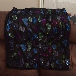 Black sequin skirt. NWT